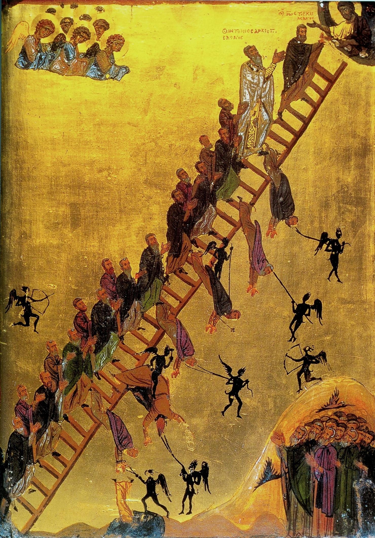 Икона Лествица Иоанна Лествичника