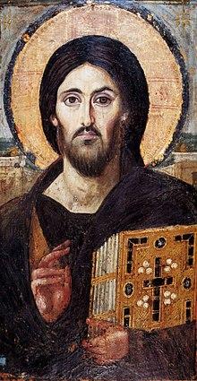 Христос Пантократор (6 век, Синай, монастырь св. Екатерины)