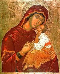 Икона Богородицы «Сладкое Лобзание» («Гликофилуса»)