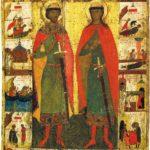 Икона «Борис и Глеб с житием». Вторая четверть XIV в.