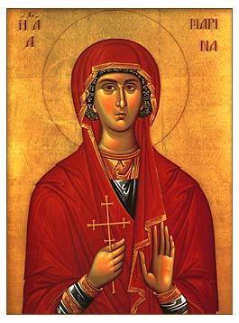 Икона святой Марины