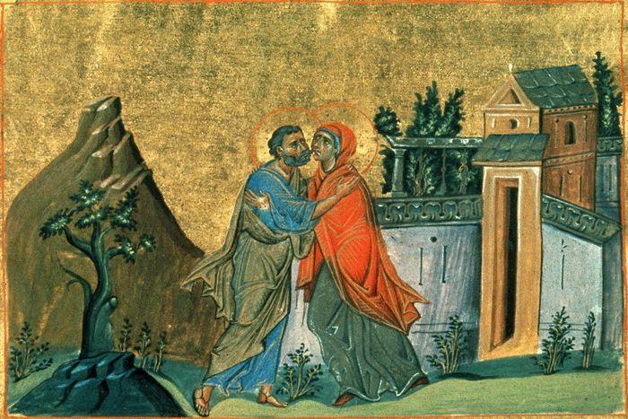 Икона встречи Иоакими и Анны у Золотых ворот