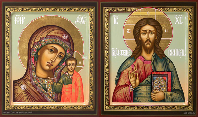 Христос Спаситель и Богородица