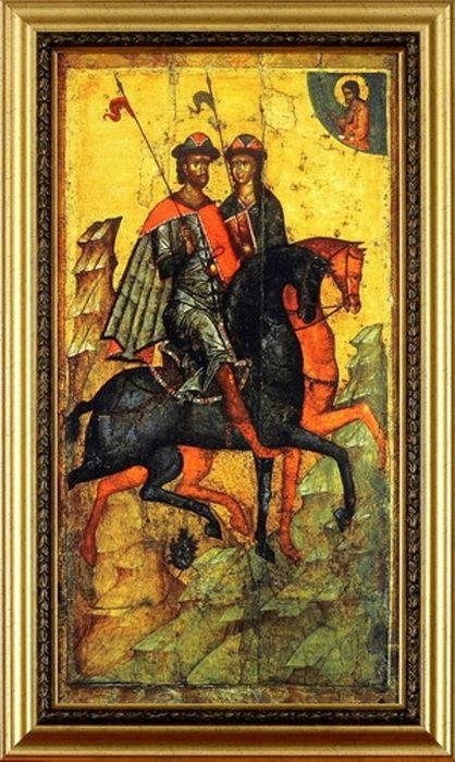 Икона «Святые Борис и Глеб»