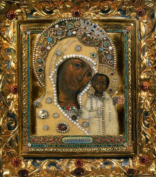 Чудотворная Казанская икона Божьей Матери
