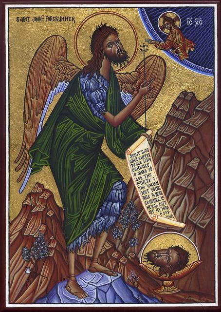 Икона Иоанна Крестителя Ангел Пустыни
