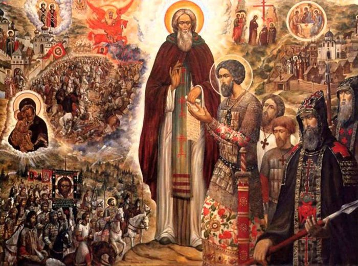 Икона Сергия Радонежского «Куликовская битва»