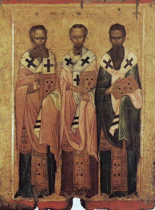 Икона трех святителей Василия Великого, Григория Богослова, Иоанна Златоуста