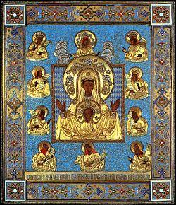 Курская Коренная икона «Знаменье» (цветная литография с подлинника)
