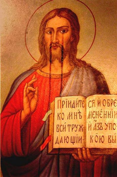 Мироточащая икона Спаса