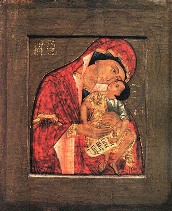 Угрешская икона Божией Матери «Взыграние Младенца»