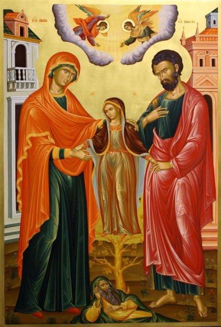 Икона Анна и Иоаким