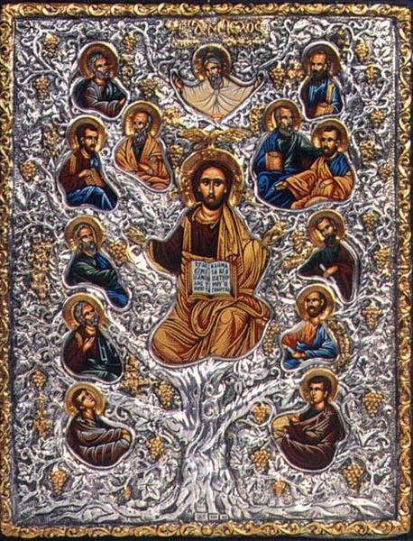 Икона Христос ампелос