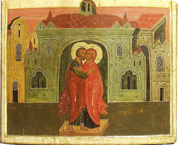 Икона Иоаким и Анна