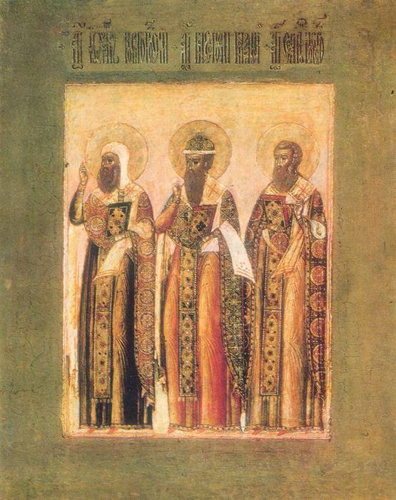 Икона «Три святых»