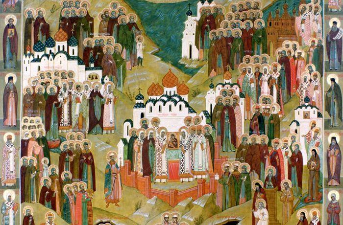 Икона Всех Святых в Земле Русской Просиявших
