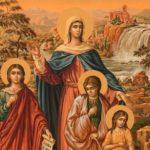 Вера, Надежда, Любовь и мать их София, католический образ