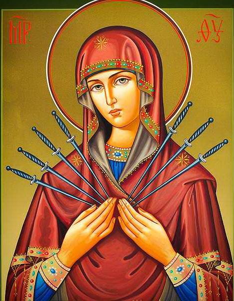 Икона «Семистрельная Божья Мать»