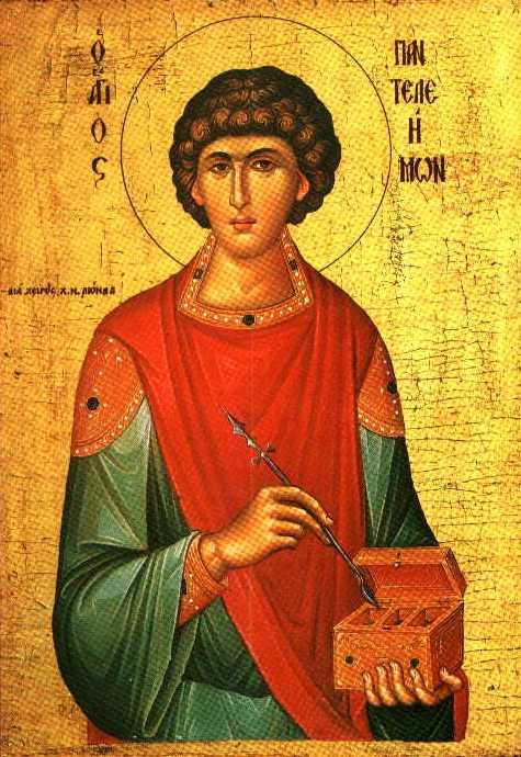 Икона св. великомученика Пантелеимона Целителя