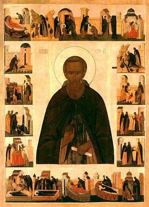 Сергий Радонежский. Житийная икона