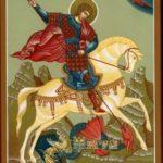 Икона Георгий Победоносец чудо о змие