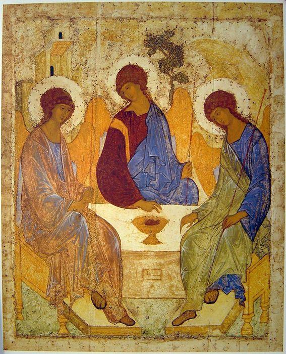 Икона Святой Троицы Рублева