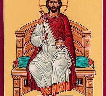 Икона Господь Вседержитель на троне