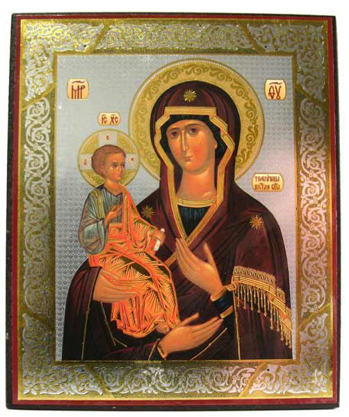 Икона Троеручица с третьей кистью