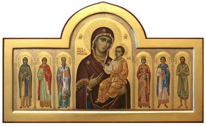 Икона Иверская Божией матери со святыми