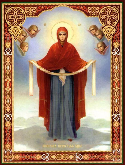 Икона «Покров Пресвятой Богородицы» полная версия