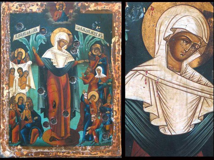 Икона Всех скорбящих Радость с грошиками