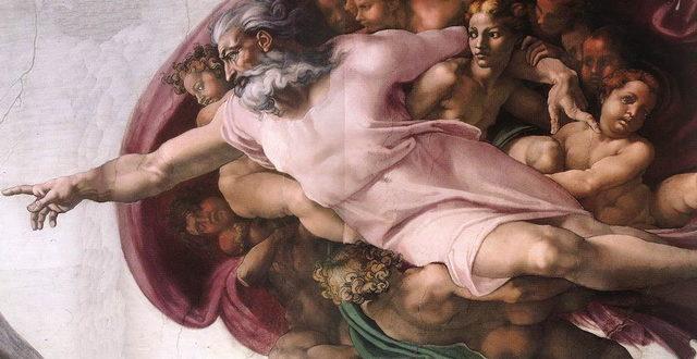 Бог-Отец (Микеланджело, фрагмент росписи Сикстинской капеллы «Сотворение Адама»)