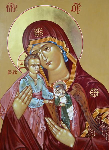 Икона скорбящая о младенцах во чреве убиенных