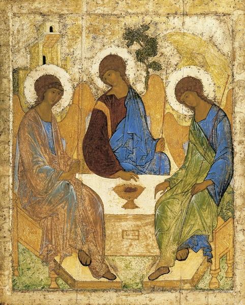 Древняя икона Святой Троицы