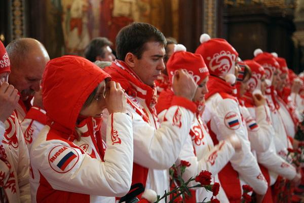 Спортсмены молятся о победе в соревнованиях