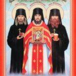 Изображение оптинских великомученников Василия, Трофима и Ферапонта