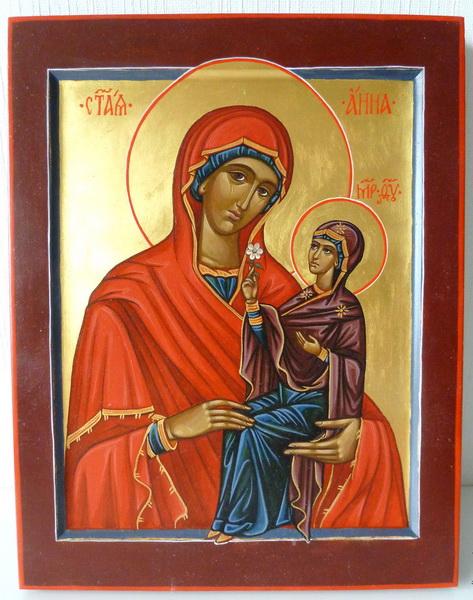 Святая Анна с младенцем