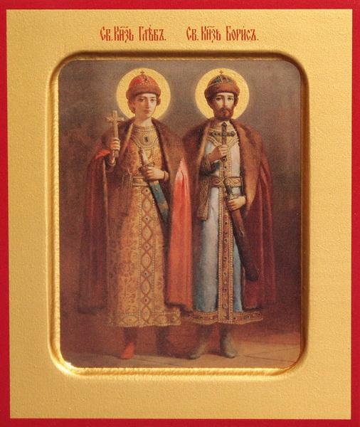 Икона святых Бориса и Глеба