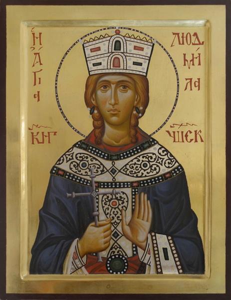 Икона святой Людмилы Чешской