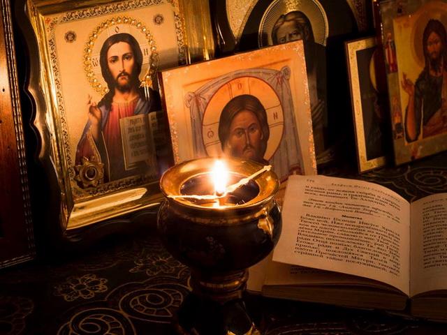 Чтение вечерней молитвы
