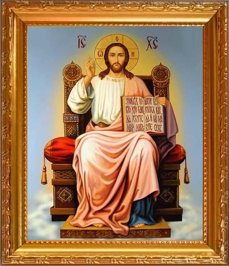 Икона Иисуса Христа на троне