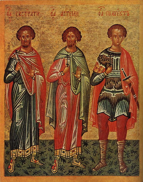 Икона святого Полиевкта (справа)