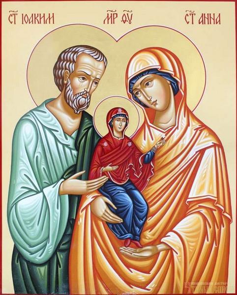 Икона Святым Иоакиму и Анне