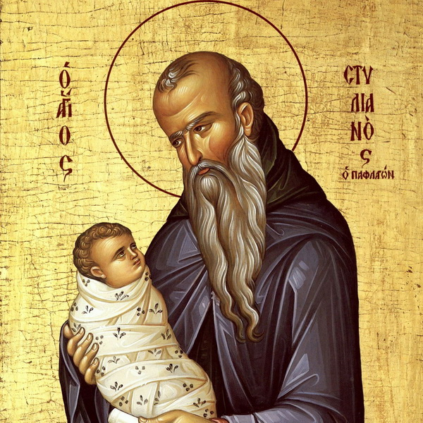 Младенец на руках святого Стилиана