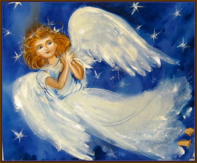 Картинка с ангелом на Рождество Христово
