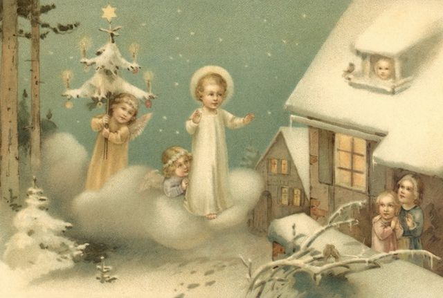 Красивая рождественская открытка