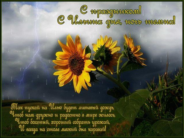 Открытка с поздравлением на Ильин день