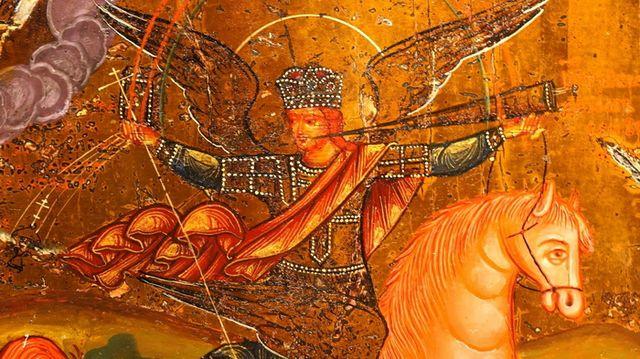 Архангел Михаил Грозных сил Воевода Икона 19 век