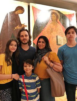 Джонатан Джексон и его семья в Третьяковской галерее