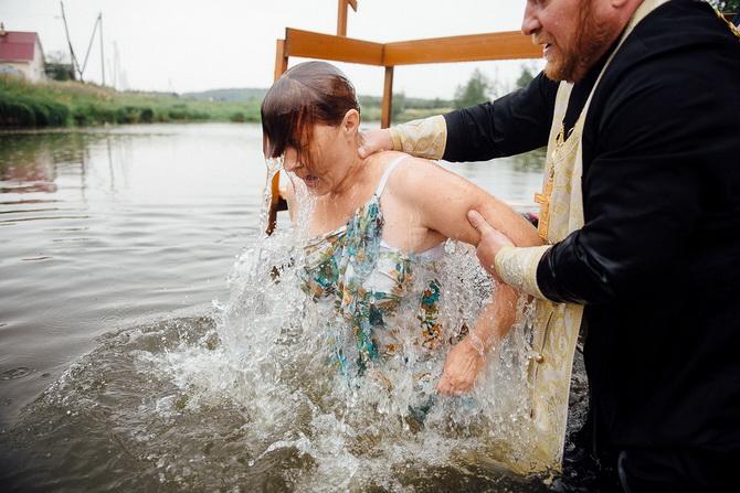 Крещение взрослых женщин